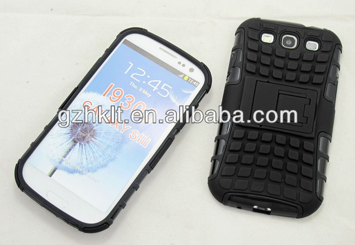 2014 New Style Cover for SAMSUNG Galaxy S3 TPU+PC kickstand combo armor case