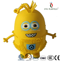 light-up printed little yellow man puffer ball