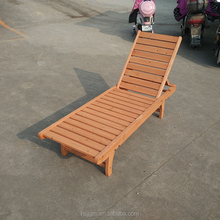 outdoor garden swimming pool beach wooden sun lounge chair
