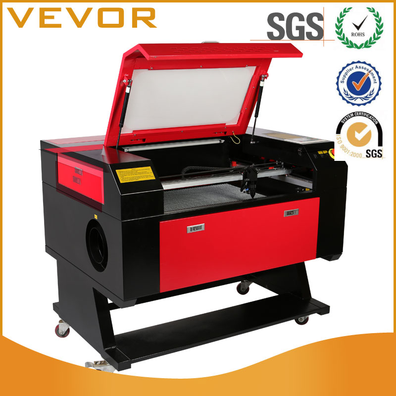 Laser Engraving Machine Cutting Machine Rotary AXIS 60W Co2 Laser 700x500mm Cutting Machine for Arts and Crafts with 80mm 3 JAW
