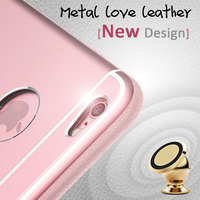 Ablibaba Gemuine leather metal case for iphone 6 metal case