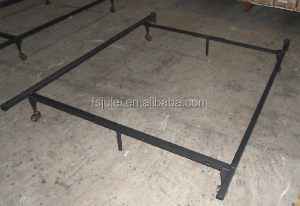 Heavy Duty Metal Adjustable Queen Full Twin Bed Frame With Center Support & Glides