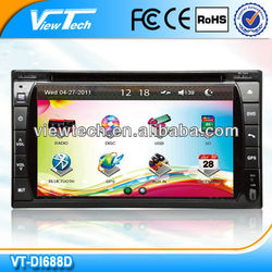 6.2 inch factory made 2din car dvd and mp4 player with USB