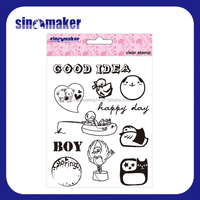 decorative clear silicon stamp designs for card making and scrapbooking