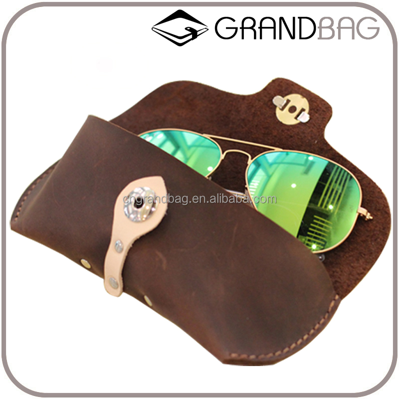 vintage handmade soft custom leather sunglass case, wholesale travel glasses case pouch, genuine leather eyeglass case