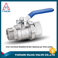 "Dn15 brass Ball For Water Ball Valve Hollow Polished Chrome ppr brass male 1/2"" inch ball cock of oujia valve"