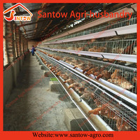 Battery layer egg chicken cage / poultry farm house coops floor design for sale
