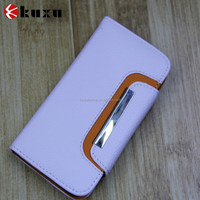 Wholesale genuine luxury design leather wallet case for iphone