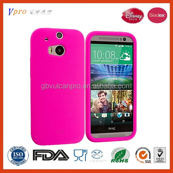 Pink Silicone Soft Skin Case Cover for HTC One