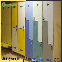 Amywell hot promotion compact laminate wooden grain Storage cabinet HPL lockers