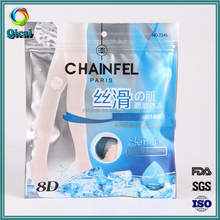 Freezer colorful printing aluminum foil packaging zip lock plastic bag for silk stockings