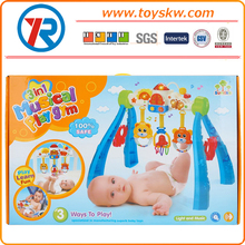 Educational baby musical play gym toys with light and music