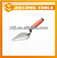 carbon steel bricklayer polished building construction tools with antislip rubber handle