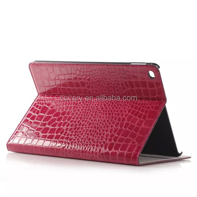 Crocodile Wallet leather case for apple ipad air2