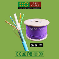 Shenzhen Factory 1000ft 305m LSZH LSOH Jacket 4 Pairs Solid Pure Copper Cat6a FTP Net Connect Cable