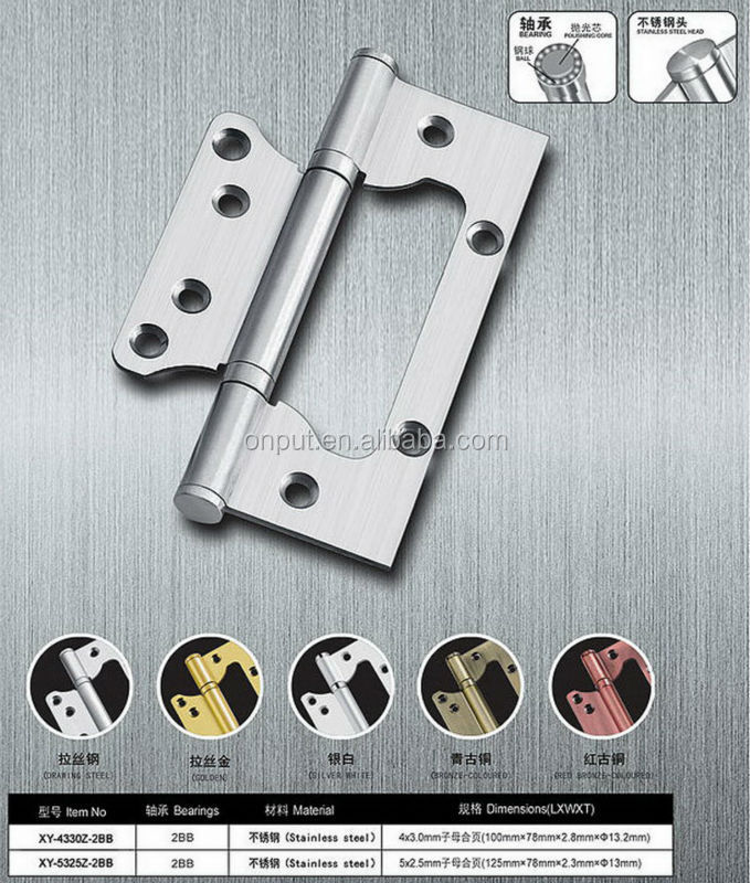 full size high quality 4*4*3 Door Hinges with Ball Bearing butt hinge