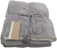 "Personalized Luxury Soft Warm Long Pile Faux Fur Mink Sherpa Throw Blanket Royal 50""x60"""