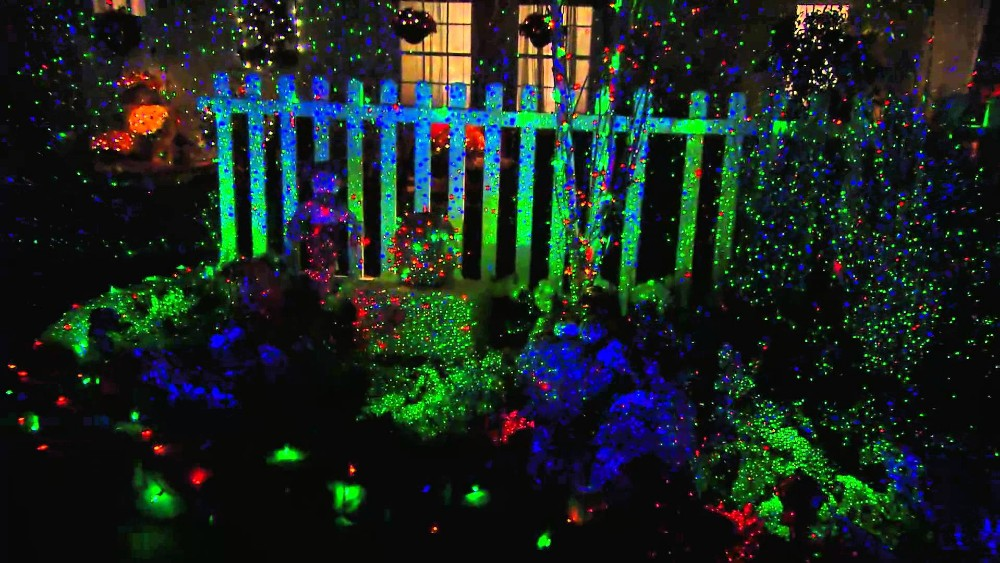 New Star Light Shower Night Motion outdoor waterproof Charming rainbow Christmas special effects laser light with remote