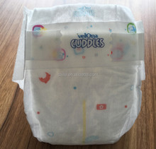 2016 New material eco-friendly nice baby diaper biodegradable completely