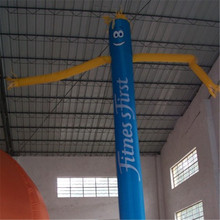 Promotional blue color inflatable sky air dancer with air dancer blower