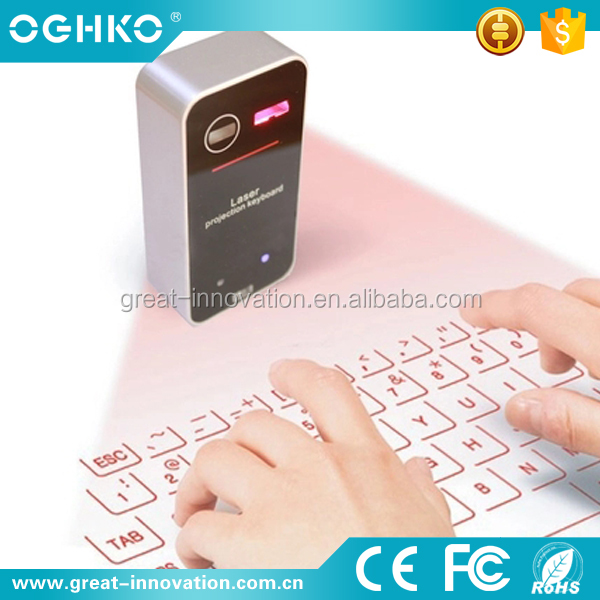 New design charging virtual bluetooth Laser Projection keyboard