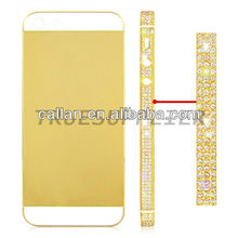 Luxury diamond middle frame for iphone 5 gold color