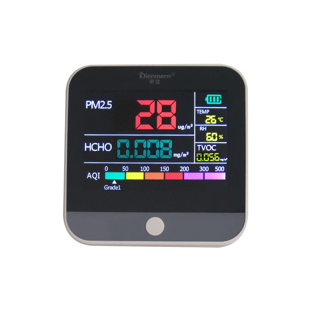 Air Pollution Monitor  PM2.5   Detector  Multi-function Laser Sensor Smart Calibration Air Quality Monitor TVOC HCHO