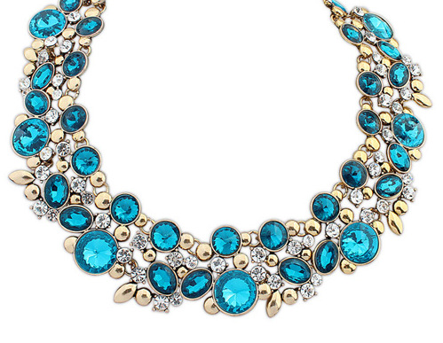 High quality Yiwu Factory Big Choker Collar Necklace