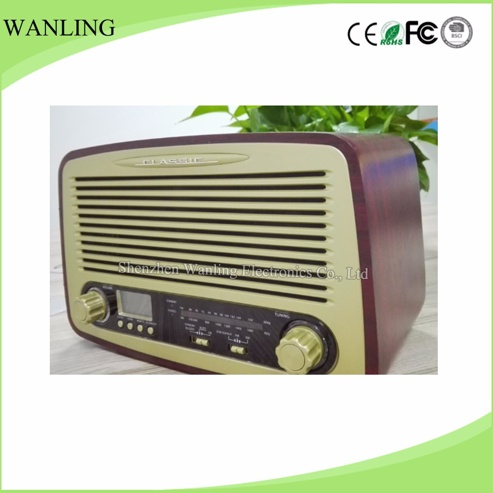 OEM antique FM radio with USB SD recording portable radio