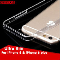 "JESOY Hot For iPhone 6 plus Case 5.5"" Ultra Thin Slim Transparent Crystal Clear 0.3mm TPU Back Cover Case"