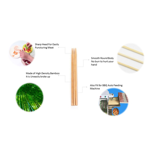 China Factory Eco-friendly Disposable kebab sticks bamboo BBQ skewer