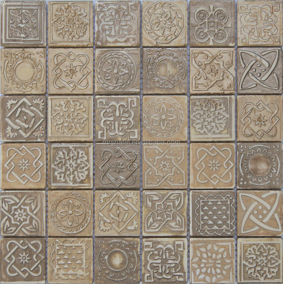 picture of stone carving tile for flooring mosaic tile