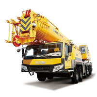 XCMG 100ton truck crane sizes with flatbed QY100K for sale
