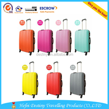 Wholesale Waterproof Pure 7 Ccolors ABS Travel Bag Cabin Luggage