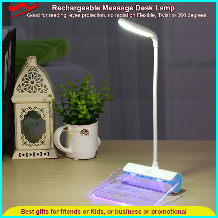 Message Desk Lamp / Household utilities wholesale rechargeable led work light