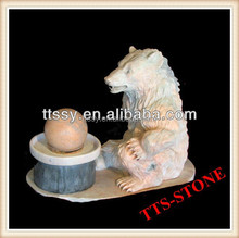 marble bear sculpture