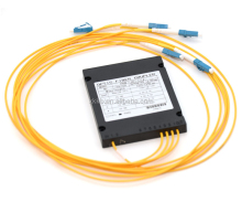1x4 PLC Fiber Optic Splitter in ABS Box