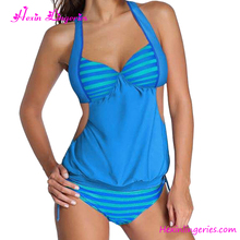 USA Warehouse Deliver Wholesale sexy halter light blue hot women japanese one peice swimsuit