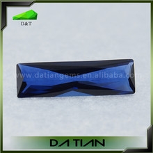 Fashion facted rectangle blue sapphire stones