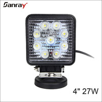 27W led square working light waterproof offroad truck atv 4x4 27 watt work light