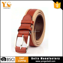 Hot Braided Elastic Mix Color Belt Fashion Fabric Stretch Weaving Belt