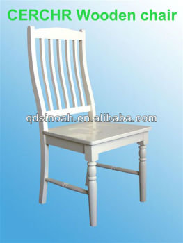 pine dining chair white color wood dinner chair