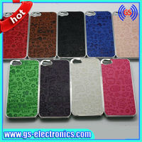 cartoon PU leather case for iphone 5 leather pu cute case for iphone 5