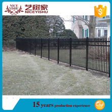 Brand new ornamental iron fence finials with high quality/wrought iron picket fence/steel fence design