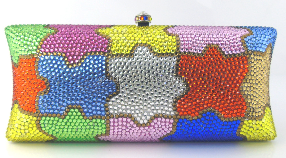 AB7000#108 African style colorful party bags beaded elegant evening bags