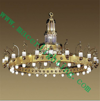New brass factory lighting chandelier for project used