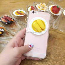 Whole sale Phone Cases 3D Delicious Food For iPhone 6 Case ,Clear Soft TPU For iPhone Case