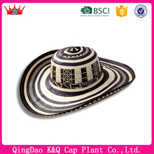 High Quality Fashionable Wide Brim Colombian Straw Hats