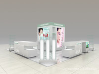 hat display fixture for cosmetic showcase display