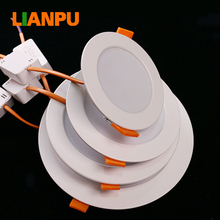 5w 7w 12w 18w 30w 2.5inch round rings ceiling light covers led ceiling panel light